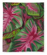 Caladiums Fleece Blanket