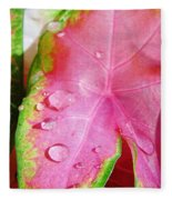 Caladium Leaf Fleece Blanket