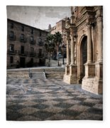 Calahorra Cathedral And Palace Fleece Blanket