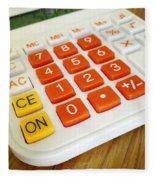 Calculator Fleece Blanket