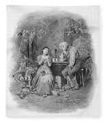 Caleb Plummer And His Blind Daughter Fleece Blanket