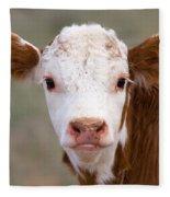 Calf Portrait Fleece Blanket