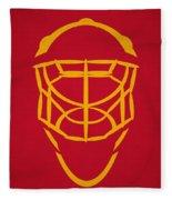 Calgary Flames Goalie Mask Fleece Blanket