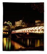 Calgary's Peace Bridge Fleece Blanket