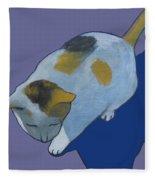 Calico On Purple Fleece Blanket