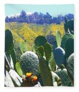 California Big Sur Flowers Fleece Blanket