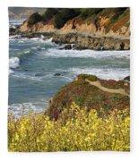 California Coast Overlook Fleece Blanket