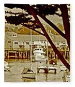 California Coastal Harbor Fleece Blanket