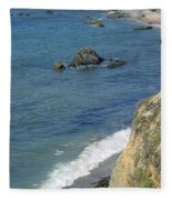 California Coastline Fleece Blanket