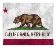 California Flag Fleece Blanket