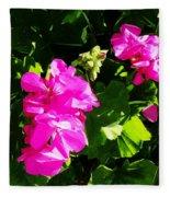 California Flowers Fleece Blanket