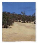 California Grass And Oak Trees Fleece Blanket