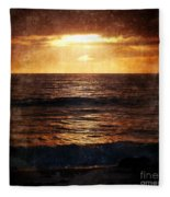 California Grunge Sunset Fleece Blanket