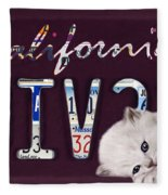 California License Plate Fleece Blanket