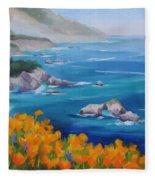California Poppies Big Sur Fleece Blanket