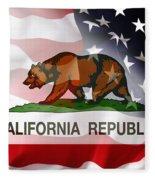 California Republic Within The United States Fleece Blanket