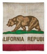 California State Flag Fleece Blanket
