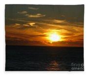 California Winter Sunset Fleece Blanket