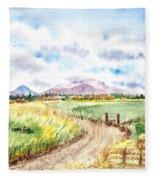 Californian Landscape Saint Johns Ranch Of Mountain Shasta County Fleece Blanket