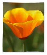 Californian Poppy Fleece Blanket