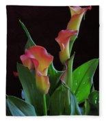 Calla Lilies 2  Fleece Blanket