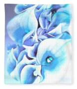 Calla Lilly So Soft Lilac And Blue Fleece Blanket