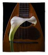Calla Lily And Mandolin Fleece Blanket