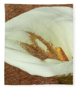 Calla Lily Gold Leaf Fleece Blanket