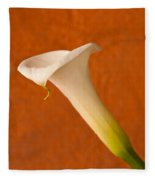 Calla Lily In Bloom Fleece Blanket
