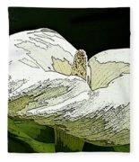 Calla Lily Sketch Fleece Blanket