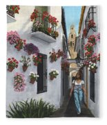 Calleje De Las Flores Cordoba Spain Fleece Blanket