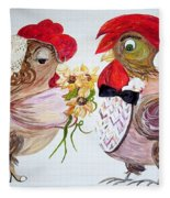 Calling All Chicken Lovers Say I Do Fleece Blanket