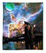 Calling The Night - Crow Art By Sharon Cummings Fleece Blanket