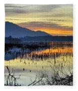 Calm At The Lake Fleece Blanket