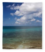 Calm Caribbean Ocean Fleece Blanket