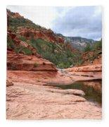 Calm Day At Slide Rock Fleece Blanket