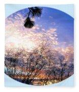 Calm December Sunset Fleece Blanket