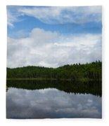 Calm Lake - Turbulent Sky Fleece Blanket