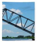Caloosahatchee Train Draw Bridge Fleece Blanket