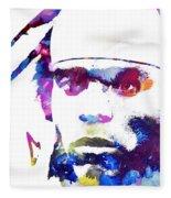 Cam Newton - Doc Braham - All Rights Reserved Fleece Blanket