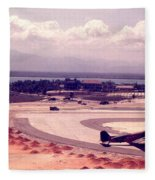 Cam Rahn Bay Airfield Fleece Blanket