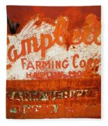 Cambell Farming Corperation Hardin Montana Fleece Blanket