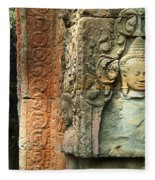 Cambodia Angkor Wat 1 Fleece Blanket