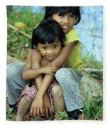 Cambodian Children 02 Fleece Blanket
