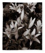 Cambodian Flower Arrangement Fleece Blanket