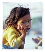 Cambodian Girl 01 Fleece Blanket