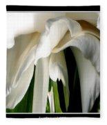 Camellia Abstract Fleece Blanket