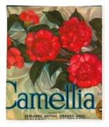 Camellia Crate Label Fleece Blanket