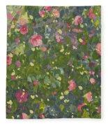 Camellia In Flower Fleece Blanket