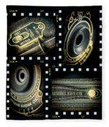 Camera Collage Fleece Blanket